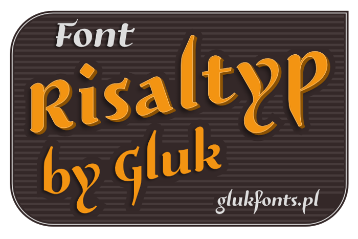Risaltyp Font poster