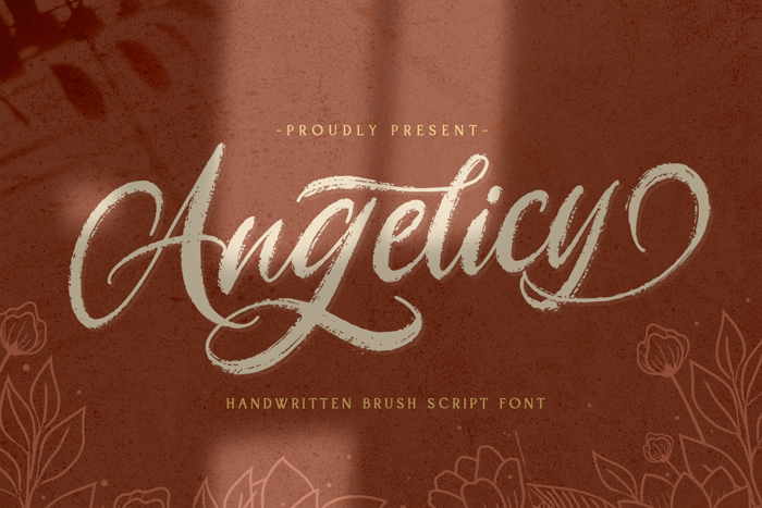 Angelicy Font poster