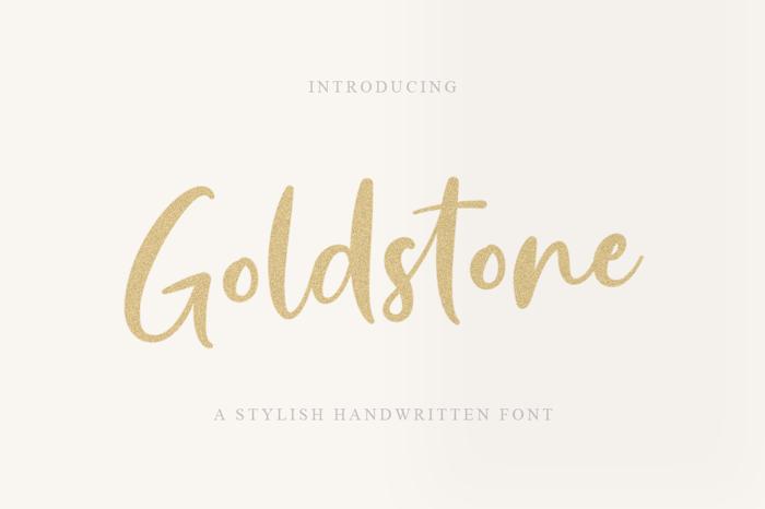 Goldstone Font poster