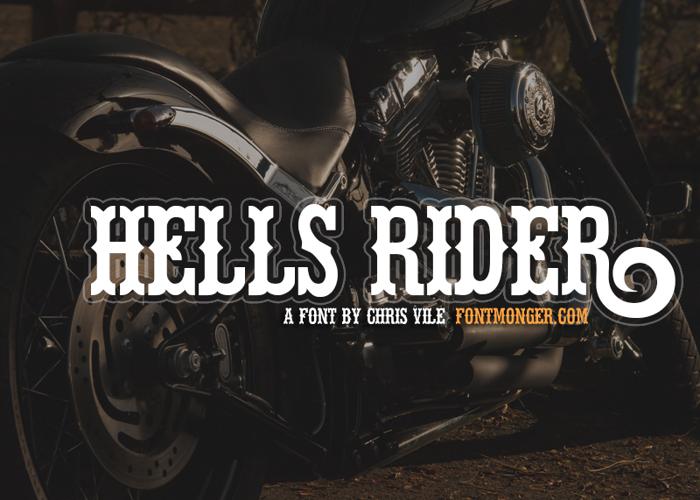 Hells Rider Font poster