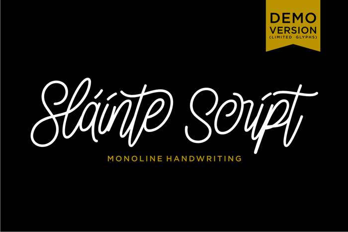 Slainte Script Demo Font poster