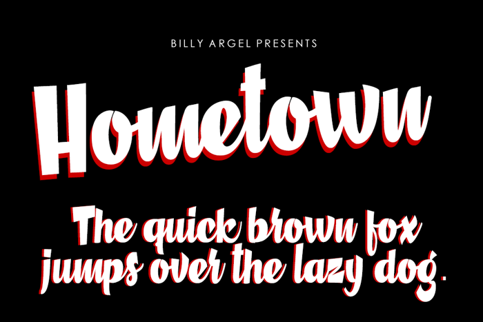 Hometown Font poster
