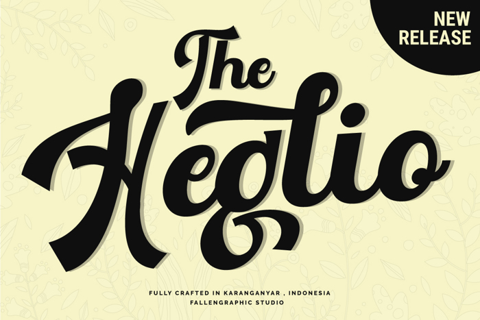 The Heglio Font poster
