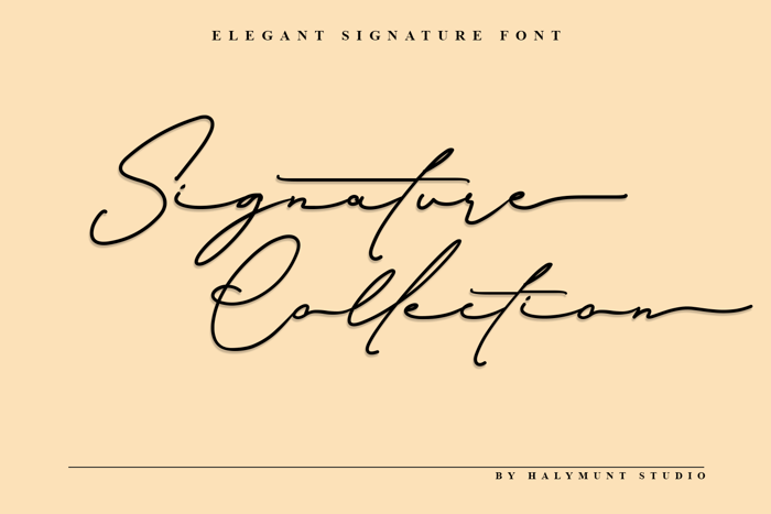 Signature Collection Font poster