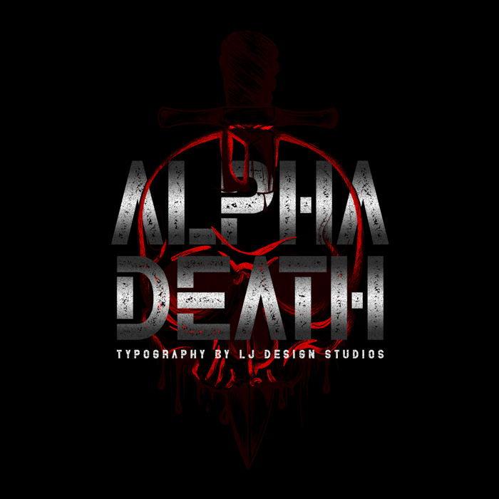 Alpha Death Font poster