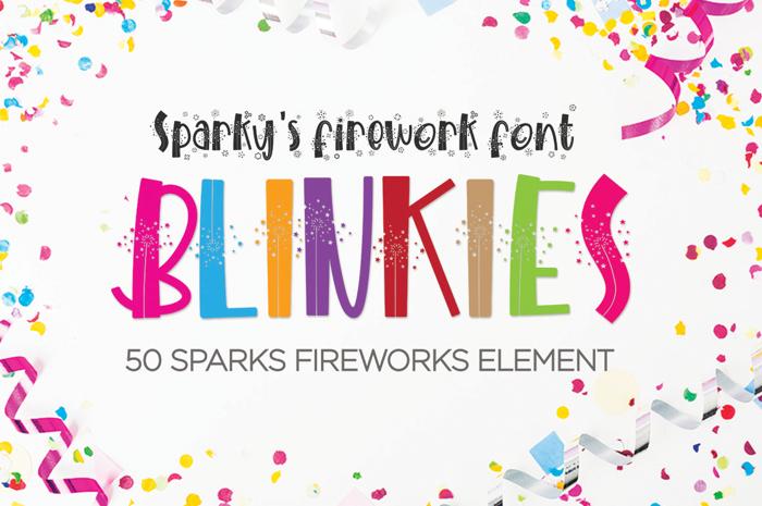 BLINKIES Font poster