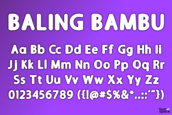 BALING BAMBU Font poster