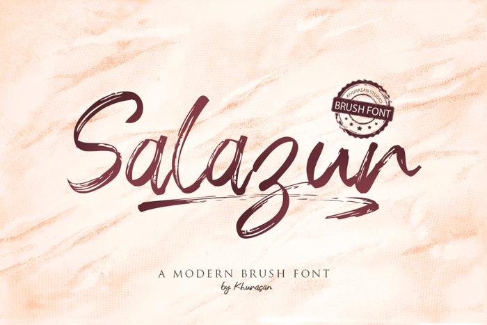 Salazur Font poster