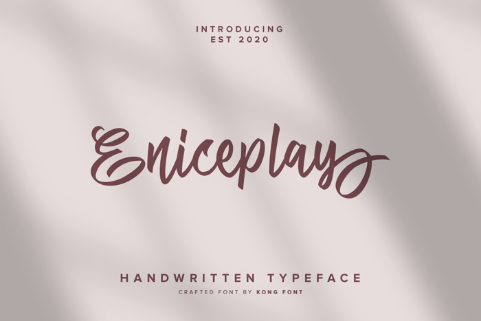 Eniceplay Font poster
