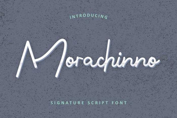 Morachinno Font poster