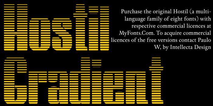 Hostil Gradient Font poster