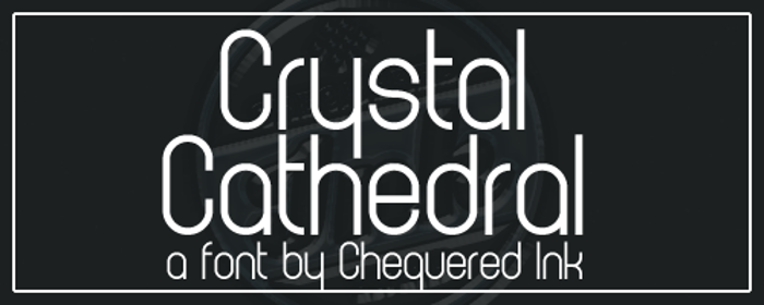 Crystal Cathedral Font poster
