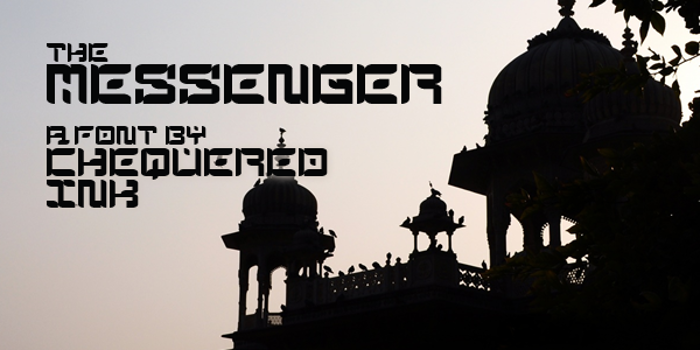 The Messenger Font poster