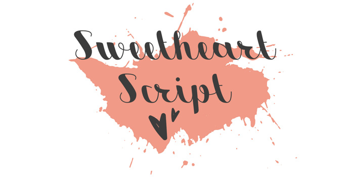 Sweetheart Script Font poster