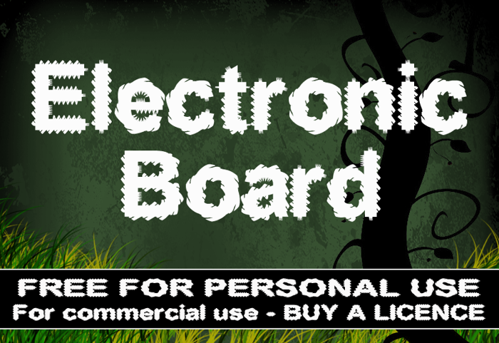 CF Electronic Board Font poster