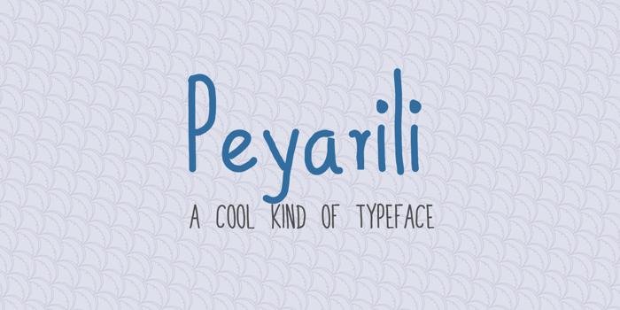 Peyarili Font poster