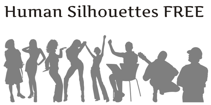 Human Silhouettes Free Font poster