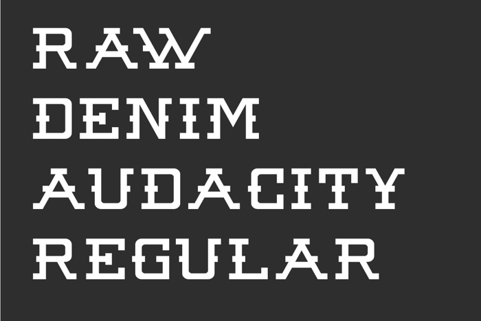 Raw Denim Audacity Font poster