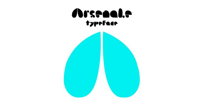 Arsenale Blue Font poster