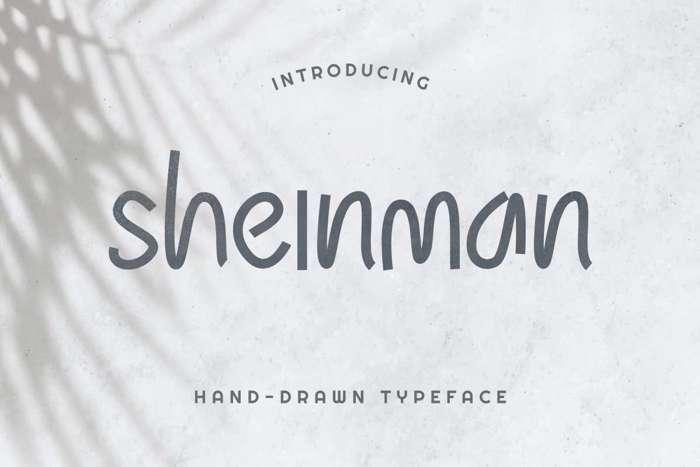 Sheinman Font poster