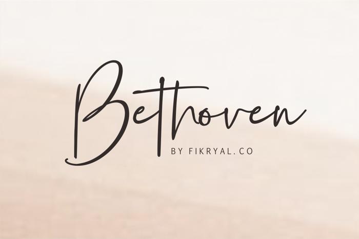 Bethoven Font poster