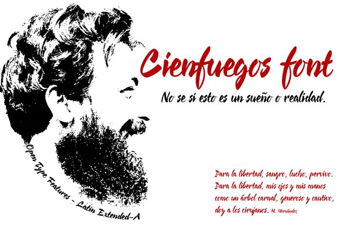 Cienfuegos Font poster