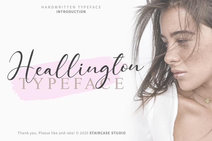 Heallington Font poster