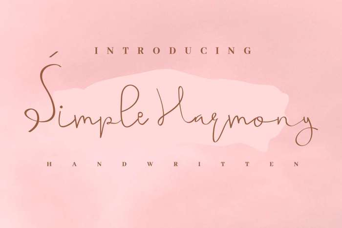 Simple Harmony Font poster