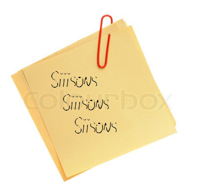 Siiisons Font poster