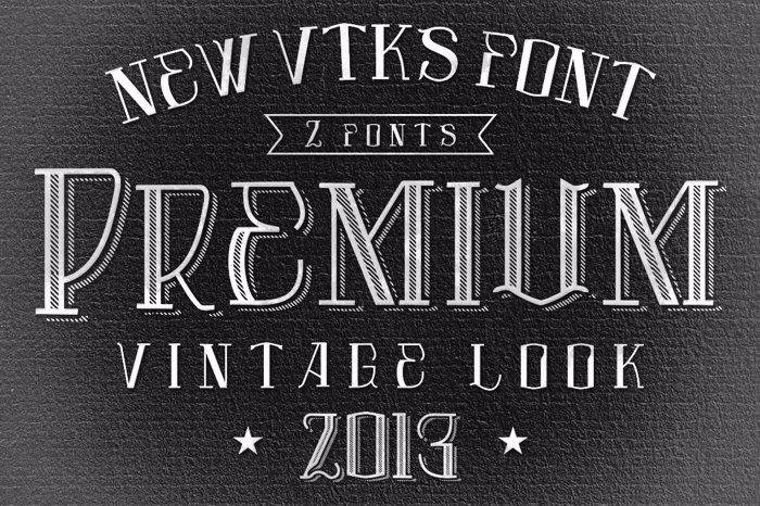 Vtks Premium Font poster