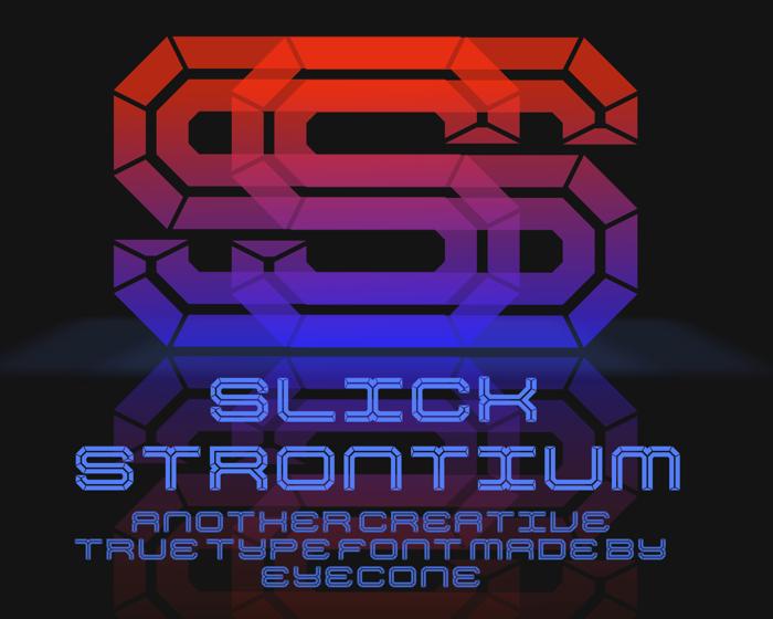 Slick Strontium Font poster