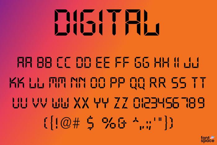 Digital Font