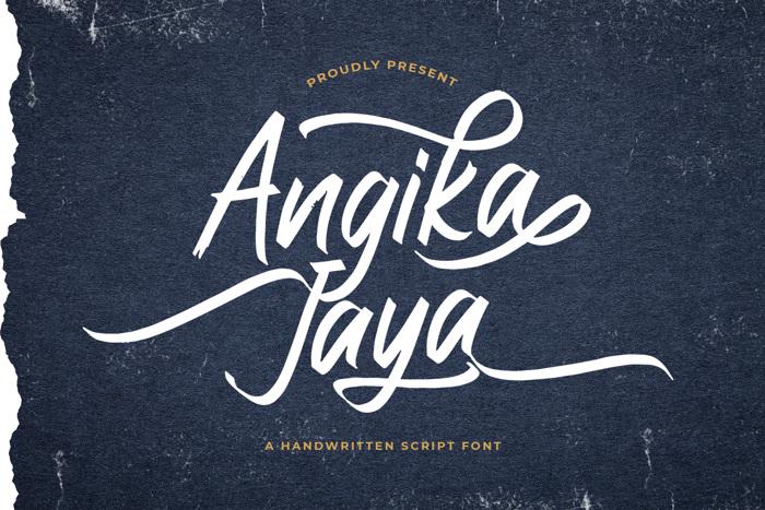 Angika Jaya Font poster