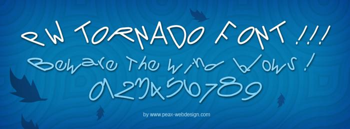 PWTornado Font poster