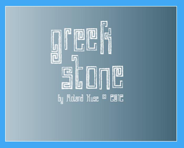 Greek Stone Font poster