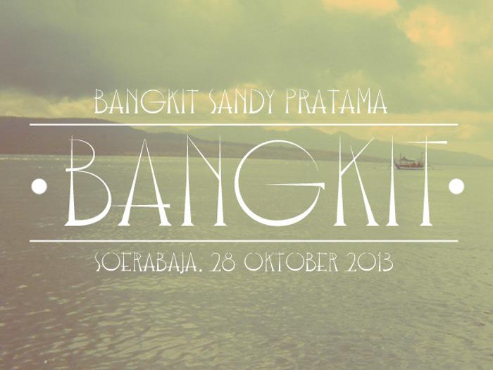 Bangkit Font poster