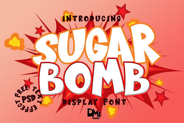 Sugar Bomb Font poster