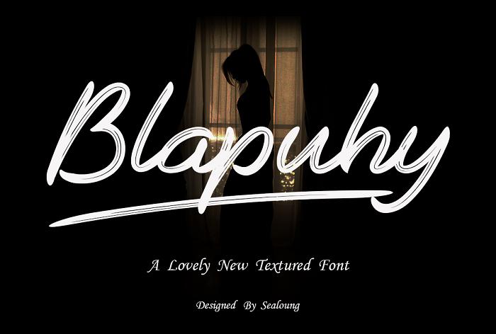 Blapuhy Font poster