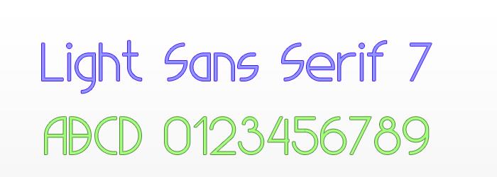 Light Sans Serif 7 Font poster