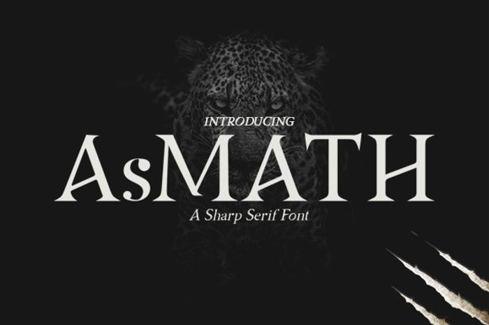 Asmath Free Font poster