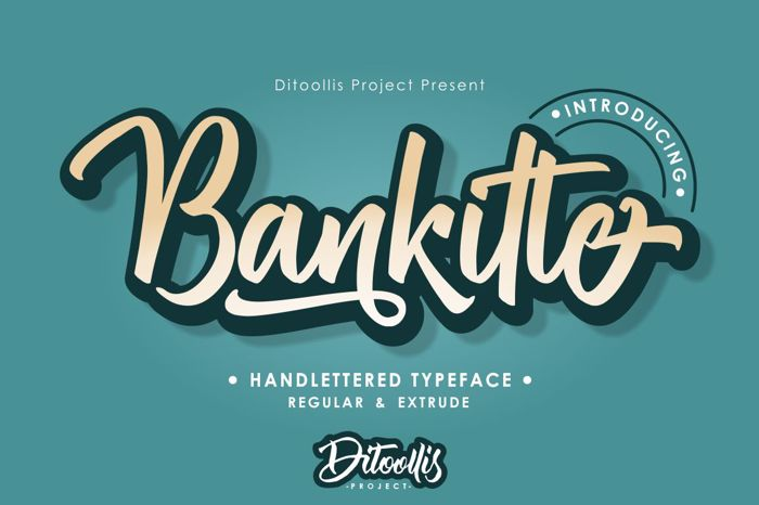 Bankitte Font poster