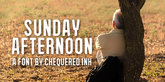 Sunday Afternoon Font poster
