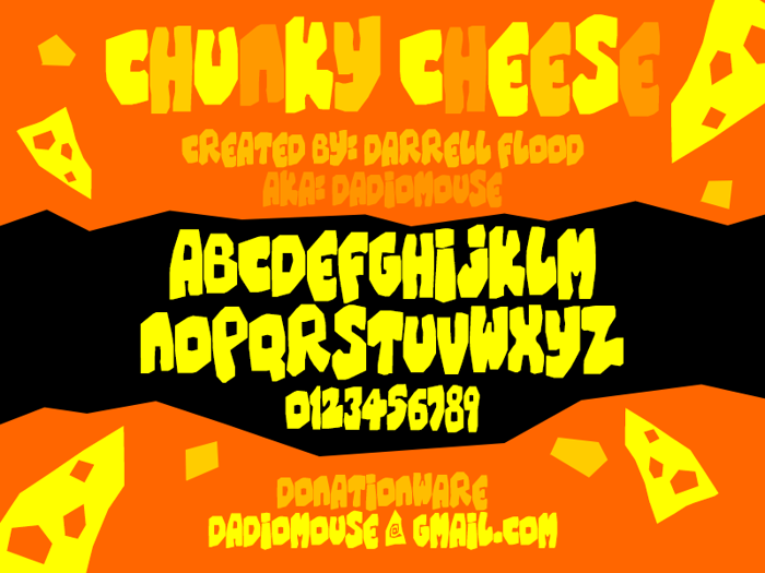 Chunky Cheese Font poster