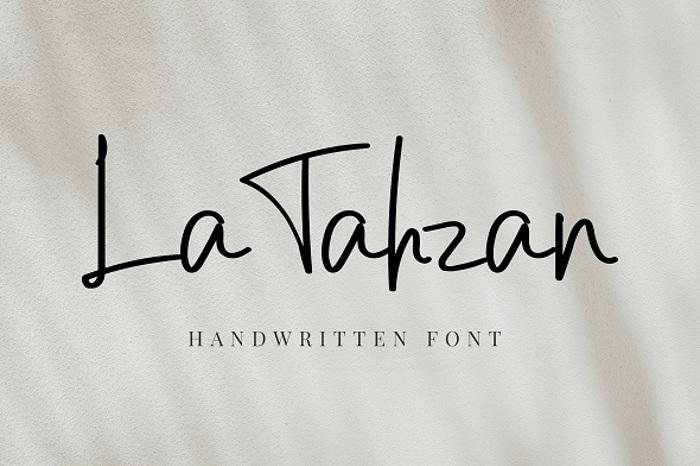 La Tahzan Font poster
