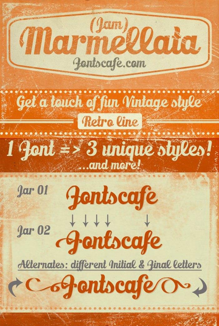 Marmellata (Jam)_demo Font poster