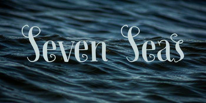 Seven Seas DEMO Font poster