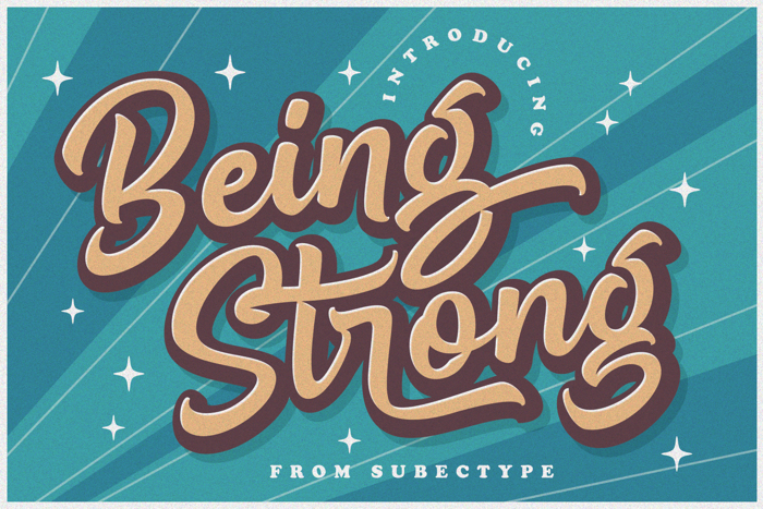 Be Strong Font poster