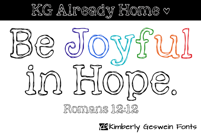 KG Already Home Font poster