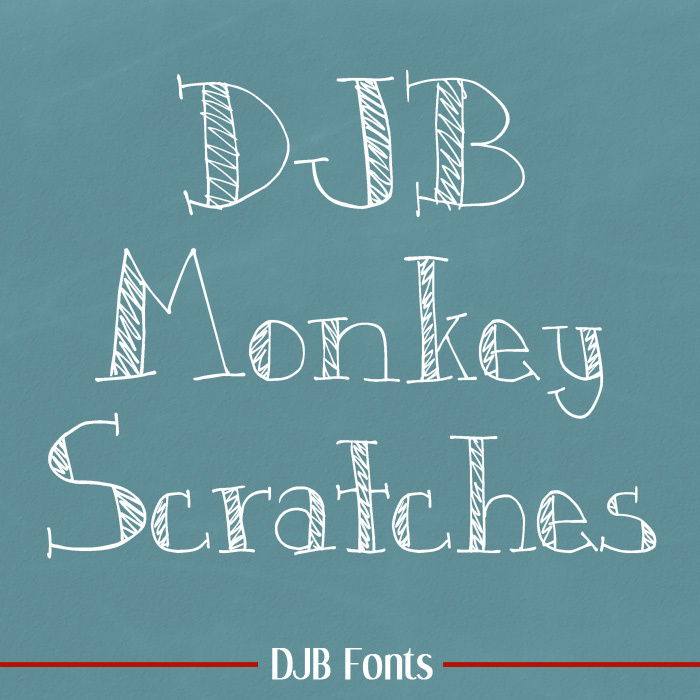 DJB Monkey Scratches Font poster