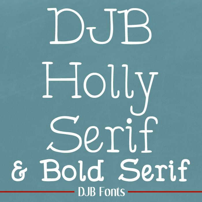 DJB Holly Serif Font poster